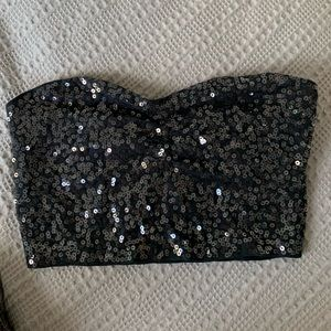 Express Sparkle Crop Top with Built in Bra